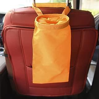 COGEEK Car Trash Can Bin GarbageBag Waterproof Travel Storage Hanging Organizer Bag Stowing Tidying (orange)