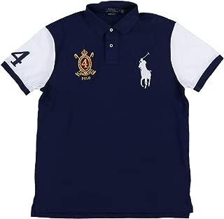 Mens Big Pony Custom Slim Fit Crest Polo Shirt