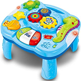 Baby Toys 6 to 12-18 Months Musical Educational Learning Activity Table Toys for Toddlers Infants Kids 1 2 3 Year Old's Bo...