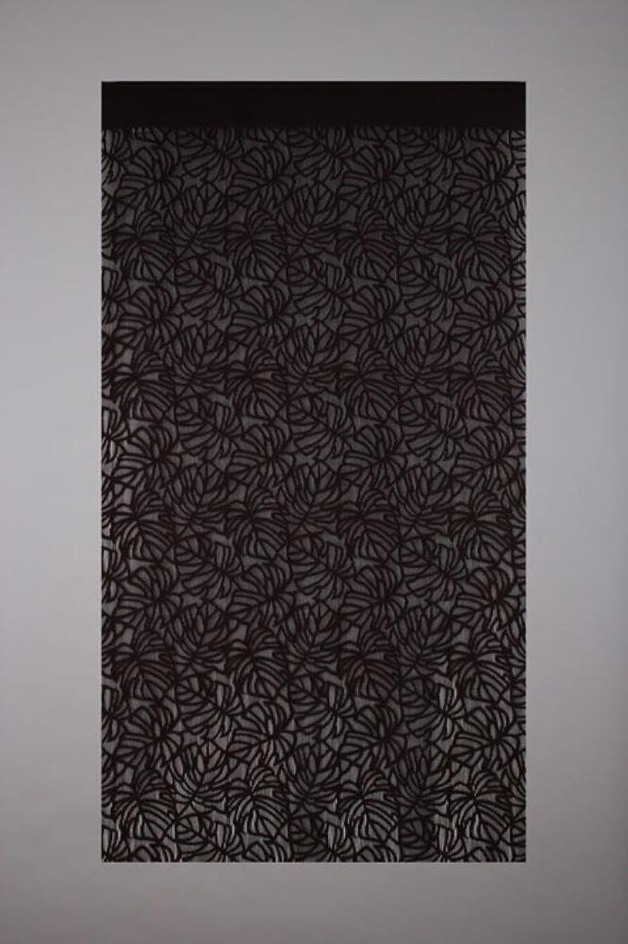 評判流体よろめくnarumikk 間仕切りタペカーテン モンステラ ブラウン 176cm丈 14-323