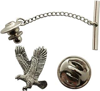 Sarah's Treats & Treasures Eagle Flying Tie Tack ~ Antiqued Pewter ~ Tie Tack or Pin