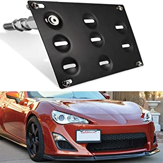 GTP JDM Style Front Bumper Tow Hook License Plate Mounting Bracket Holder Adapter Relocator for 2013-2017 Scion FR-S Subaru BRZ, 2017-up Toyota 86 and 2015-up Subaru WRX/STi Impreza Forester