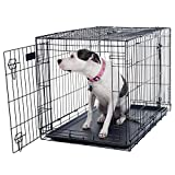 PETMAKER Large 2 Door Foldable Dog Crate Cage, 36 x 23 (80-361501)