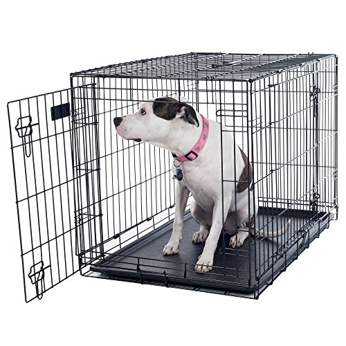 PETMAKER Large 2 Door Foldable Dog Crate Cage 36 x 23 80361501