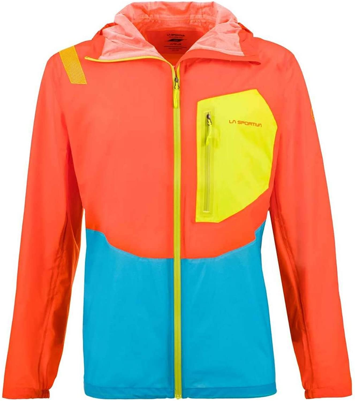 La Sportiva Mens Hail Jacket Pumpkin Tropic bluee