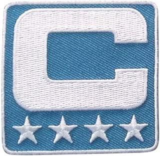 Light Blue Captain C Patch Iron On for Football Jersey (Carolina)
