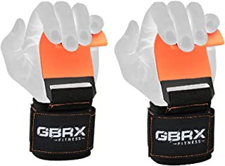GBRX Pro Wrist Wraps/Metal Hook - Power Weight Lifting Crossfit Training Strap