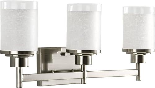 2021 Progress Lighting P2978-09 Alexa Bath & Vanity, 22-Inch Width x 9-3/8-Inch discount Height, online sale Brushed Nickel sale