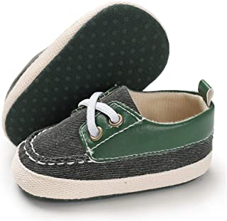 TIMATEGO Baby-Girls Unisex-Child Baby Boys Girls Slip on Boat Shoes