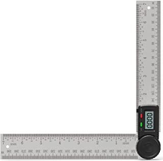 OLI Digital Angle Finder 360 Degree Protractor 7 inch/390 mm Stainless Steel Ruler with LCD Display SX09