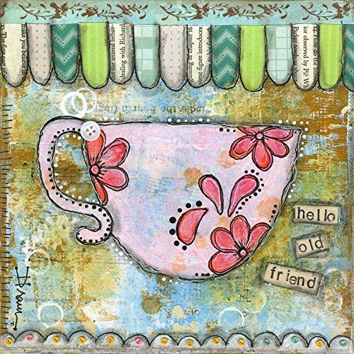 Feeling at home IMPRESION-sur-Papier-Ciao-Old-Friend-Braun-Denise-Nourriture-Affiche-roulée-Fine-Art- pour-cadre-Poster-pour-décoration-murale-dimensions-60_X_60_cm