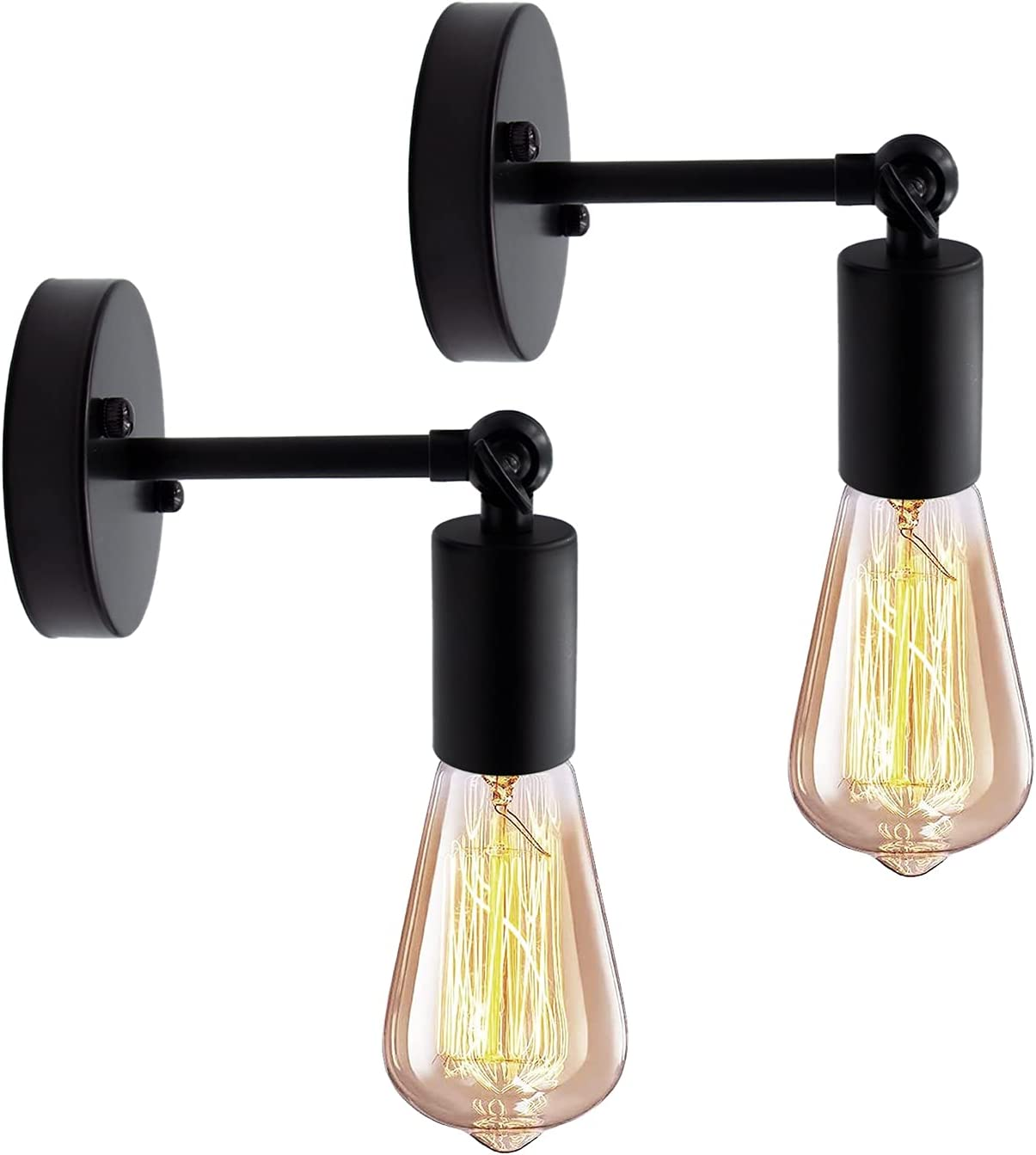 Bathroom Wall Sconce Genuine Free Shipping Set of Weekly update Industrial Vintage Blac Lamps 2