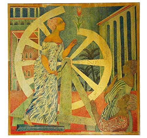 A Wheel Can Bloom, Original Gemälde, Brigitte Smith, 100 x 100 cm