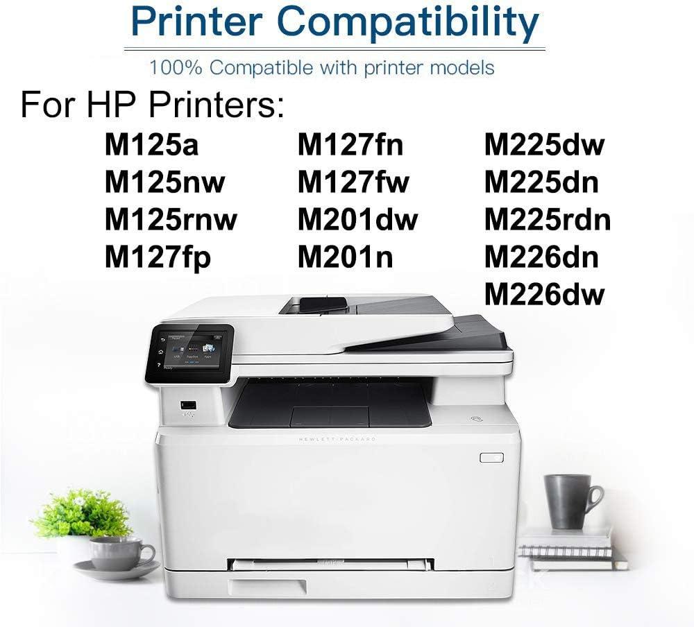 10-Pack Compatible MFP M127fn M201n M225dn Printer Toner Cartridge Replacement for HP CF283A 83A Toner Cartridge (Black, High Capacity)