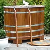 Inmersión bottich de madera barnizado para exteriores,...