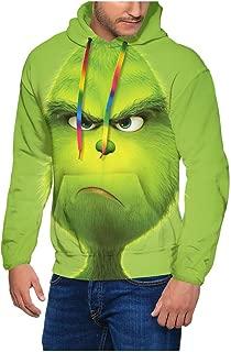 POOPEDD The Grinch Stole Christmas 3D Printed Mens Hoodies Sweatshirt