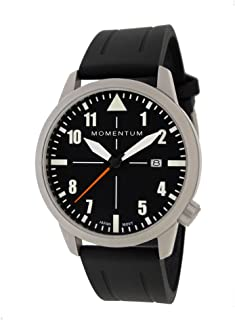 Men's Sports Watch   Fieldwalker Automatic Leather Adventure Watch by Momentum   Stainless Steel Watches for Men   Analog Watch with Automatic Japanese Movement   Water Resistant (200M/660FT) Classic Watch - Black / 1M-SN92BS1B