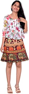 Rajvila Rajasthani Wrap around Printed Skirt for Women Jaipuri Print Skirt (F_W18NT_0002)