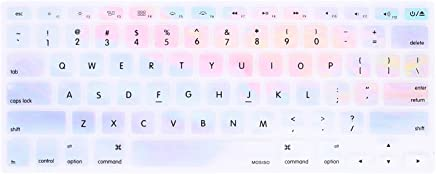 MOSISO Keyboard Cover with Pattern Compatible 13/15 Inch(with/Without Retina Display,2015 or Older Version), Older MacBook Air 13 Inch (A1466/A1369, Release 2010-2017),Colorful Clouds