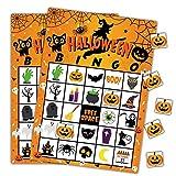 Tarjetas de bingo para juegos de Halloween, para niños, clase escolar, suministros de fiesta, 24 jugadores