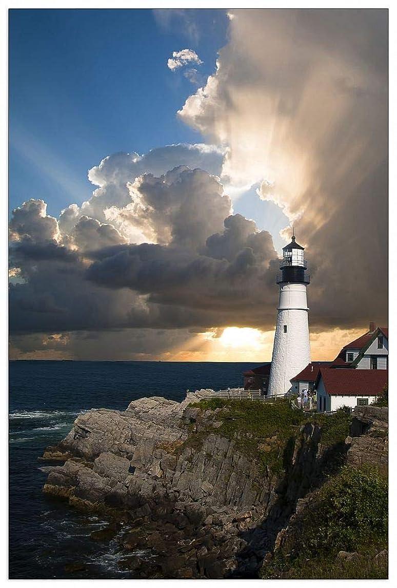 ArtPlaza TW92568 Art Studio - Lighthouse Decorative Panel 27.5x39.5 Inch Multicolored