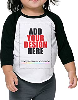 Custom Child Unisex Raglan T-Shirt - Design Your Own Shirt - Add Your Image Text