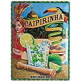 Nostalgic-Art Caipirinha Placa Decorativa, Metal, Multicolor, 30 x 40 cm
