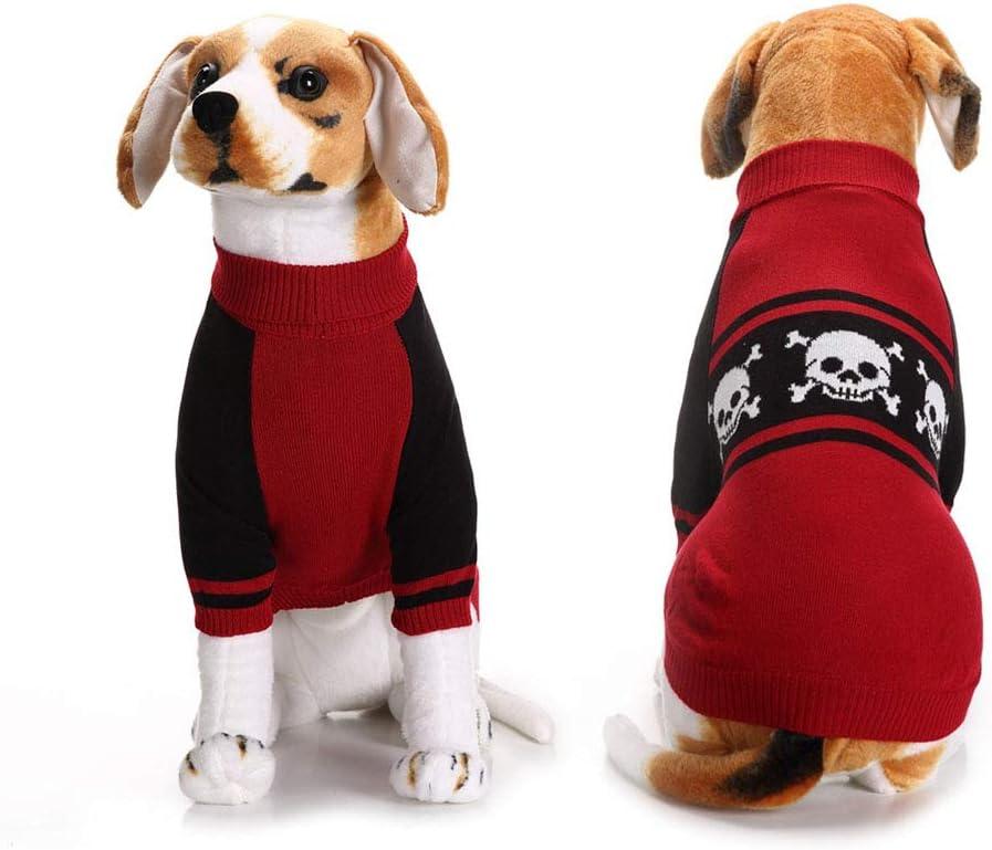 NACOCO Halloween Discount mail order Dog Knitted Sweater Head Hoodies Max 51% OFF Skull Wa Bones