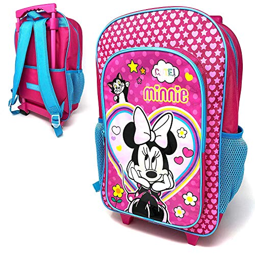 Children's Minnie Mouse Character Luggage Deluxe Wheeled Trolley Backpack Suitcase Cabin Bag School