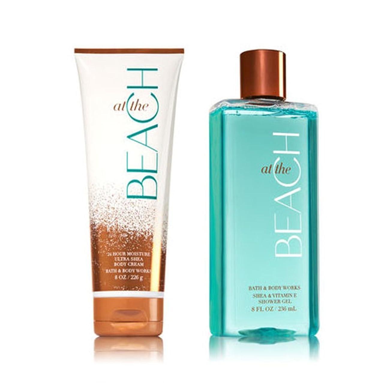 Bath & Body Works At The Beach Shower Gel & Ultra Shea Body Cream (Bundle of 2)
