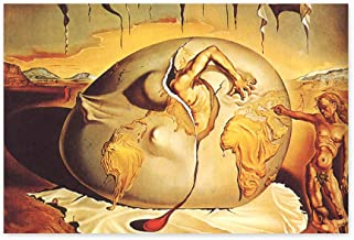Funny Ugly Christmas Sweater Geopoliticus Child Watching The Birth of The New Man Salvador Dali Poster Modern Artwork for Home Unframed Wall Art Surrealistic Poster 32