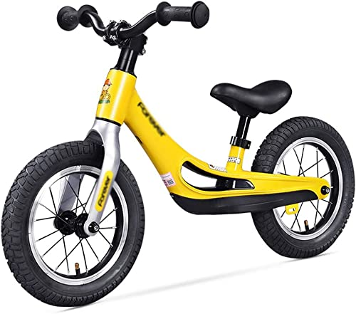 mejor servicio Balance bike Bicicletas sin Pedales Bicicleta De De De Equilibrio Bicicleta De Aleación De Magnesio Sin Pedales Andador Ligero For Niños (Color   amarillo, Talla   90  50cm)  Más asequible