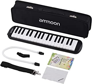 KKmoon ammoon 37 Keys Melodica Pianica Piano Style Keyboard Harmonica Mouth Organ with Mouthpiece Cleaning Cloth Carry Cas...