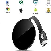 SUNSEATON Dongle de Pantalla inalámbrico WiFi para TV, Chromecast Dongle 1080P Adaptador de Receptor de TV HDMI Compatible para iOS/Android/Samsung/iPhone/iPad/Proyector/TV/Mac/Windows