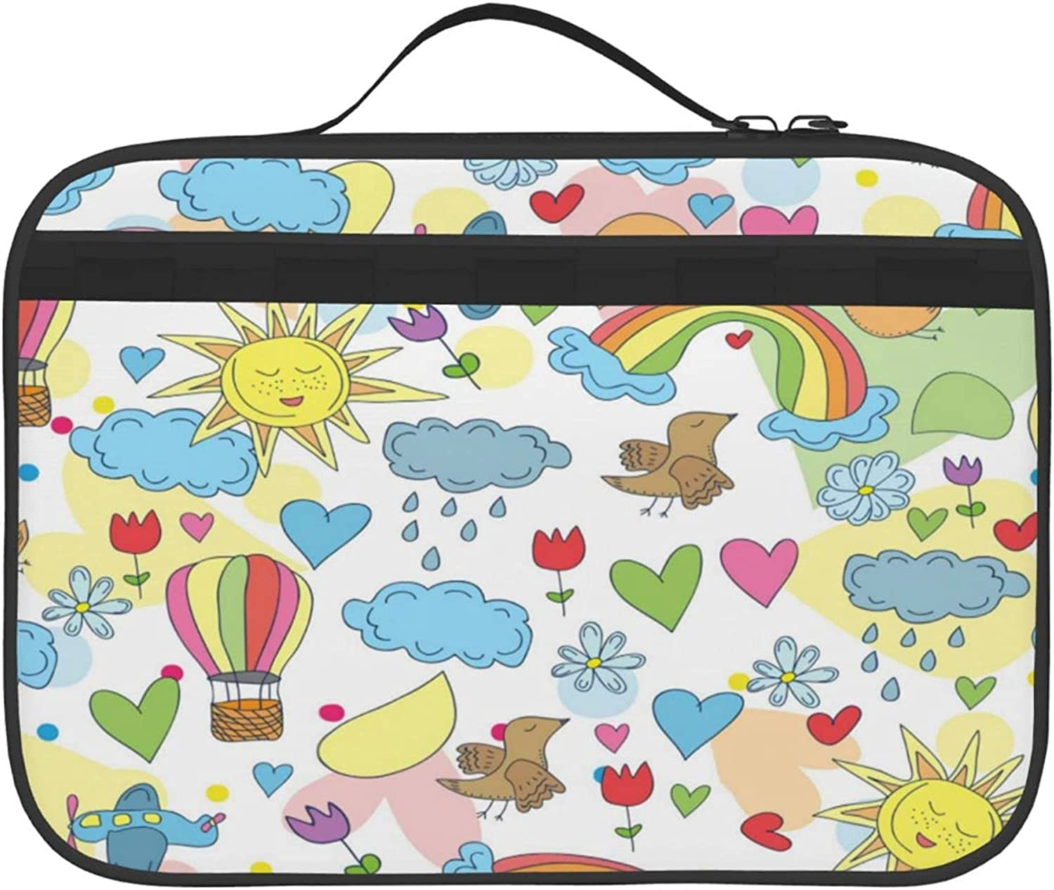 Rare Weather Pattern Two-Side Printed Insulated For Lunch Bag Max 58% OFF Outdoor