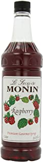 Monin Flavored Syrup, Raspberry, 33.8-Ounce Plastic Bottles (Pack of 4)