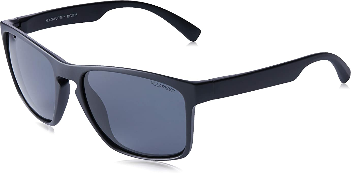 CANCER COUNCIL Men's HOLSWORTHY 1903415 TCC1903415 Polarized Wayfarer Sunglasses, MATTE BLACK, 57 mm
