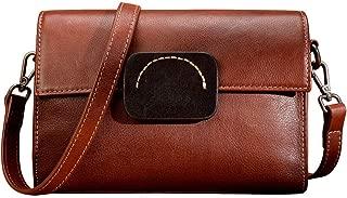 Sturdy Women Leather Wristlet Clutch Wallet Purse Crossbody Handbag with Shoulder Strap Adjustable Small Handbag Large Capacity (Color : Brown, Size : 23x16x10cm)