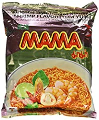 Includes: 30 individually wrapped packets of MAMA noodles Calories: 260 Calories per serving. Each serving is (1) individual packet Cooking instructions: put the Noodle and condiments in the bowl pour 1 1/2 cups ( 350ml) of boiling water. Cover the b...