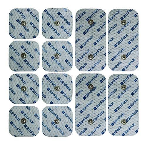 """StimPads Electrodos para Compex*, promopack con 4 electrodos 50x100mm """"Snap Dual"""" y 8 electrodos 50x50mm. ¡Funcionan a la perfección con Compex*! ¡Ahorra un 60% en comparación con los Originales!"""