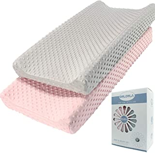 Owlowla Stretchy Changing Pad Cover,Cradle Sheet Changing Table Covers for Boys&Girls 2Pack