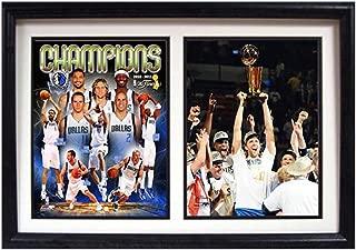 Encore Select 122-07 NBA Dallas Mavericks Double Frame 2011 NBA Champion Dirk Nowitzki Print, 12-Inch by 18-Inch
