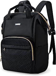 کوله پشتی لپ تاپ ، کوله پشتی BAGSMART 15.6 اینچ زنانه مقاوم در برابر آب ، گاه به گاه کوله پشتی بزرگ دکتر بزرگ برای کار ، مسافرت ، تجارت ، دانشکده کالج ، سیاه