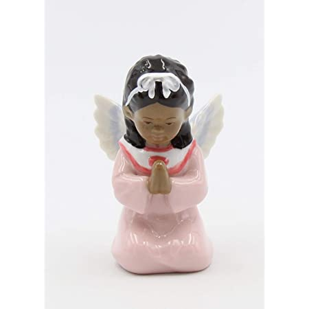 Cosmos Gifts African American Angel Girl Figurine, Multicolored