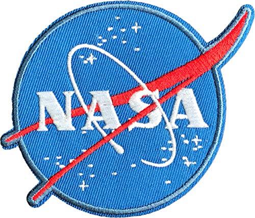 NASA公認(アメリカ航空宇宙局) ワッペン・アップリケ・アイロン糊付・NASAロゴ・インサイニア(ミートボール)