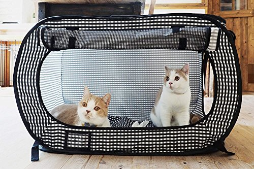 Necoichi Portable Stress Free Cat Cage Carrier Kennel Travel