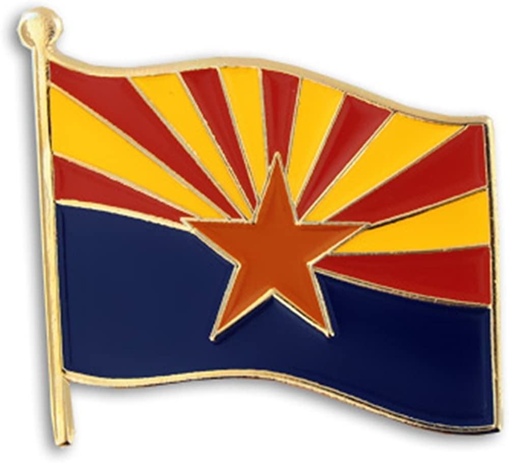 PinMart Arizona US State Flag Excellent Enamel Ranking TOP20 Lapel AZ Pin