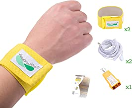 """LandKissing Grounding Portable Beige Wrist Band (2 Sets) with Bigger Size for Healthy Earth Energy with 2 Flexible Coil Cords (19.5"""" Full Length) and 1 Ground Port Checker"""