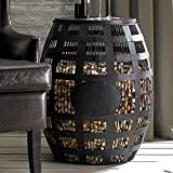 Wine Enthusiast Barrel Cork Catcher Side Table – Holds 2,000 Corks