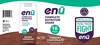 ENU Creamy Chocolate Complete Nutrition Shakes for Weight Gain - 18-pack, 8.4 fl oz (250mL) each